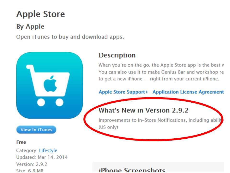 App Store Whats New